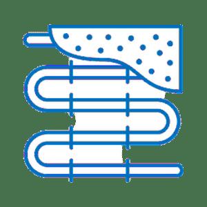 Underfloor-heating installation