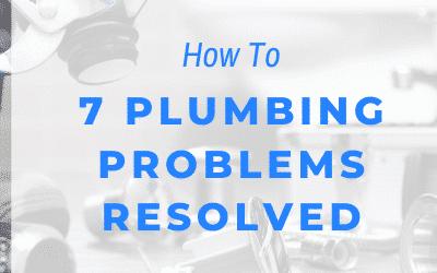 Plumbing Problems Troubleshooting